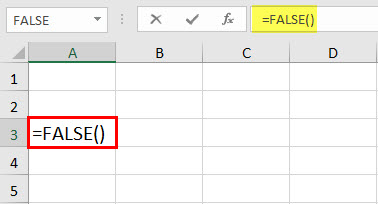 FALSE Function Example 1