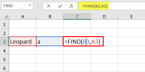 FIND Function Example 1-1