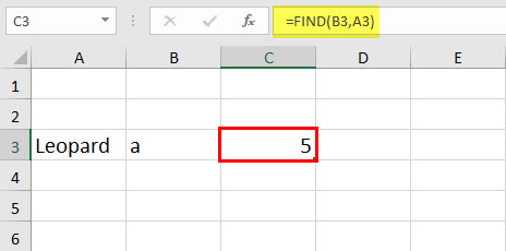 FIND Function Example 1-2