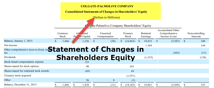 Financial Statements - Statement of Changes in Shareholders Equity
