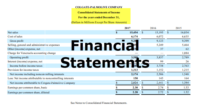 financial statement  examples