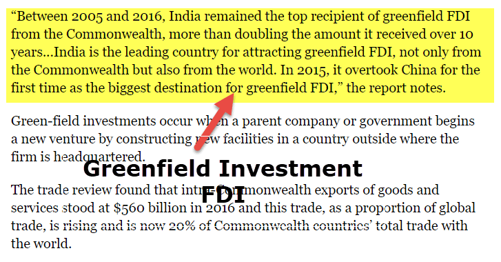 Greenfield Investment FDI