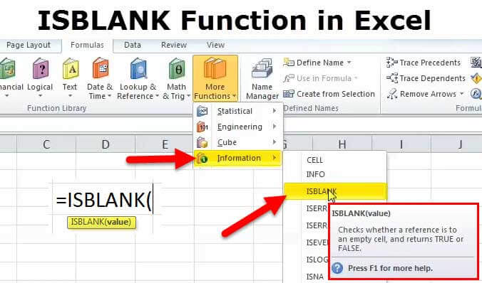 ISBLANK Function in Excel