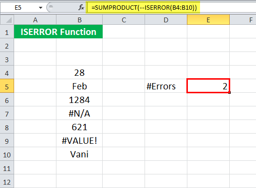 ISERROR in Excel (Formula, Example) | How to Use ISERROR ...