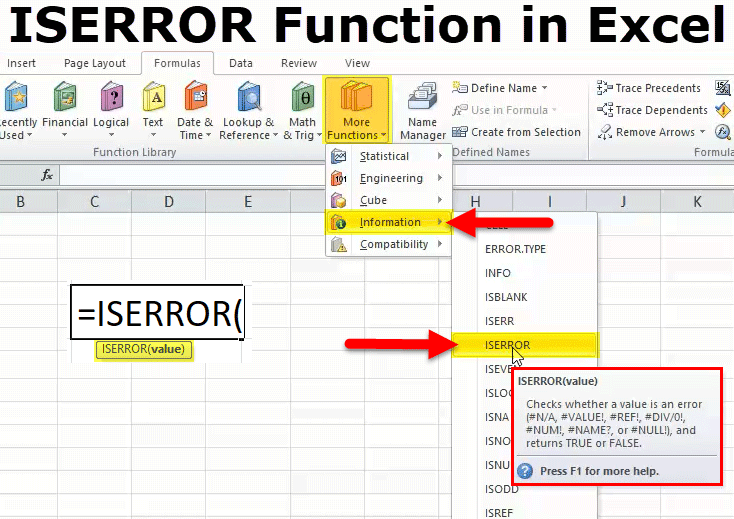 ISERROR Function in Excel