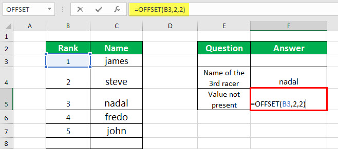 OFFSET Example 2