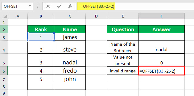 OFFSET Example 3