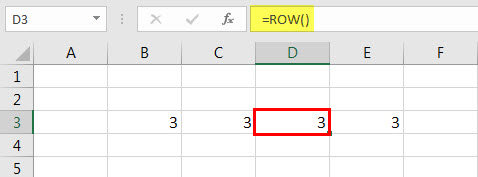 ROW Function 2