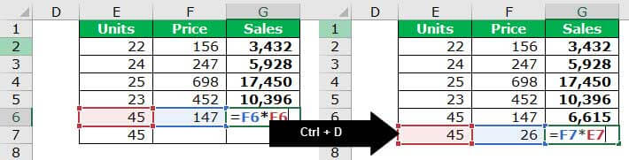 TOP 20 excel shortcuts - Auto Sum 3