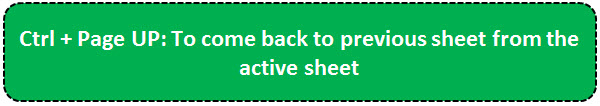 TOP 20 excel shortcuts - Moves between Sheets 1