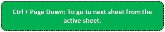TOP 20 excel shortcuts - Moves between Sheets