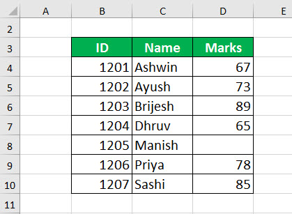 Excel TRANSPOSE Function Example 2