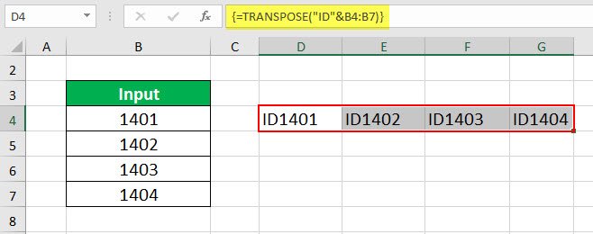 TRANSPOSE Example 3-3