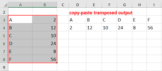 transpose example 1