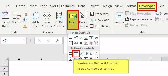Combo in Excel - step 11
