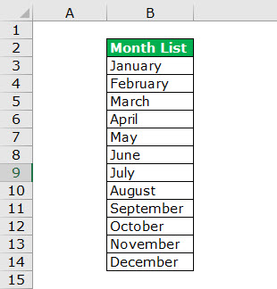 Combo in Excel - step 5