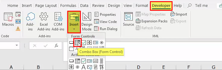Combo in Excel - step 6