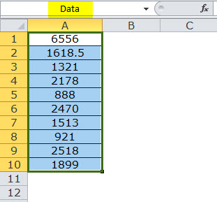 Dynamic Range in Excel Example 1-1