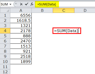 Dynamic Range in Excel Example 1