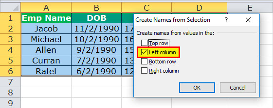 Dynamic Range in Excel Example 4-3