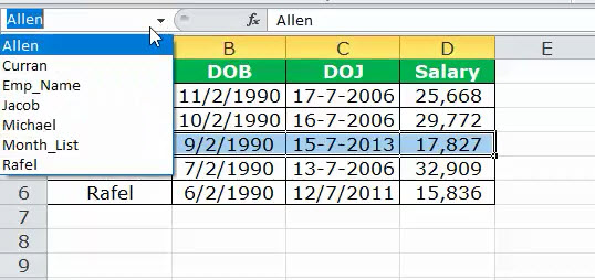 Dynamic Range in Excel Example 4-5