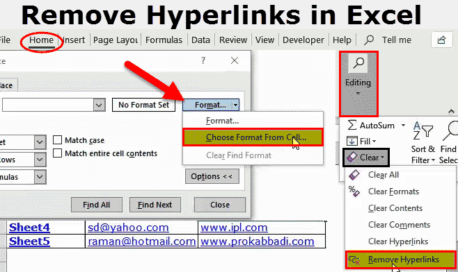 How to Remove Hyperlinks in Excel