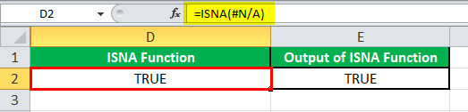 ISNA function example 2-1