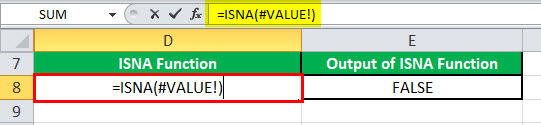 ISNA function example 3
