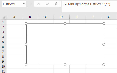 List Box in Excel 2