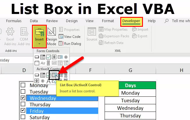 List Box in Excel VBA (Examples) | How to Create List Box in Excel?
