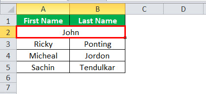 Merge Cells in Excel Step 5