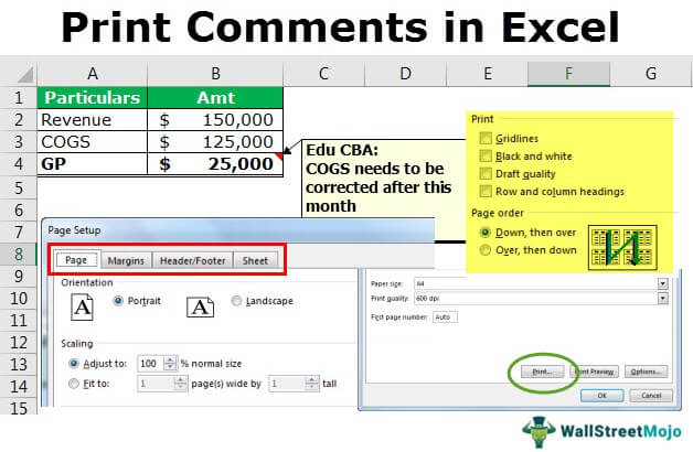 Print Comments in Excel
