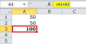 Relative reference in excel example 1-1