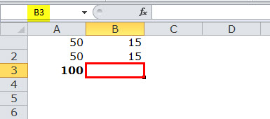Relative reference in excel example 1-2