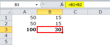Relative reference in excel example 1-3