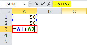 Relative reference in excel example 1