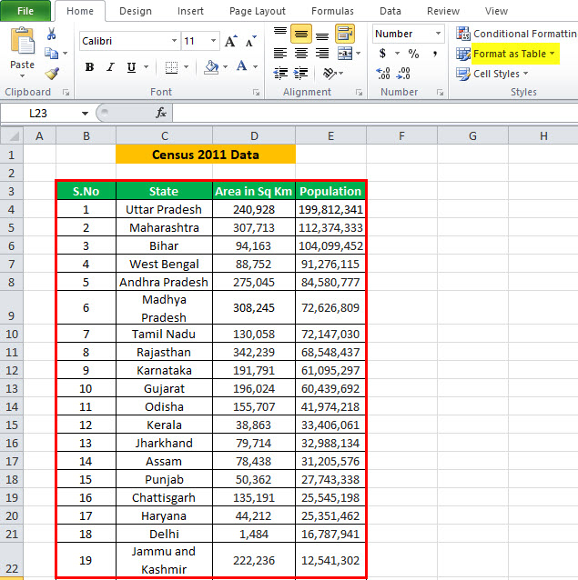 Scroll Bar in Excel Example 1