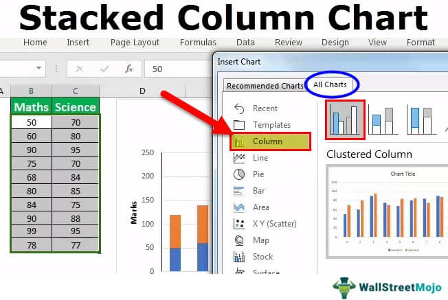 Stacked Column Chart in Excel | How to Create Stacked Column Chart?