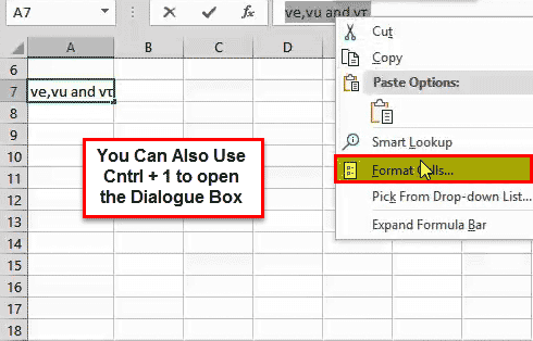 Subscript in Excel Example 3-1