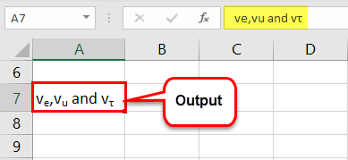 Subscript in Excel Example 3-4