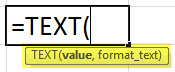Text Formula in Excel