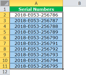 Text to Columns in Excel example 4-1