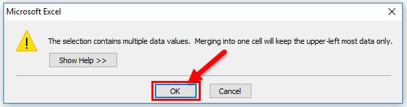 The Selection contains multiple data values