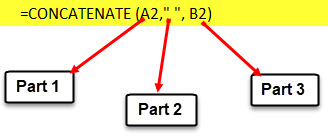 Using Concatenate Formula Step 3