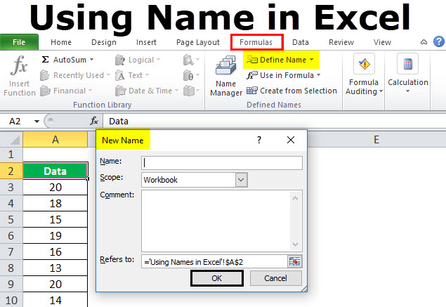 Name Range in Excel (Examples) | How to Use Names in Excel?