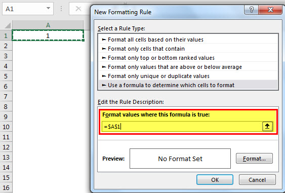 conditional formatting 1-3