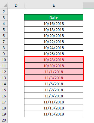 conditional formatting example 3-4