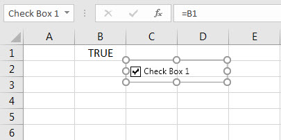 create check box in excel - step 5