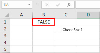 create check box in excel - step 6