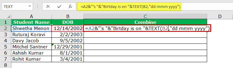 date to text example 2-2